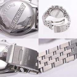 Breitling Black Stainless Steel Blackbird A44359 Automatic Men's Wristwatch 42 MM