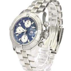 Breitling Blue Stainless Steel Chrono Super Ocean Automatic A13340 Men's Wristwatch 42 MM
