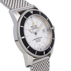 Breitling Silver Stainless Steel Superocean Heritage A1732124/G717 Men's Wristwatch 42 MM