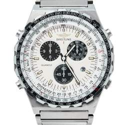 Breitling Ivory Stainless Steel Navitimer Jupiter Pilot 80975 Men's Wristwatch 42MM