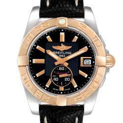 Breitling Black 18K Rose Gold And Stainless Steel Galactic C37330 Men's Wristwatch 36 MM