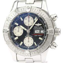 Breitling Black Stainless Steel Chrono Super Ocean A13340 Automatic Men's Wristwatch 42 MM