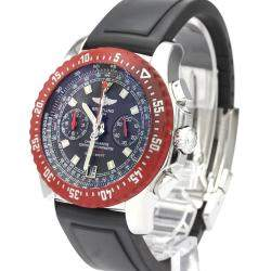 Breitling Black Stainless Steel Skyracer A27363 Automatic Men's Wristwatch 45 MM