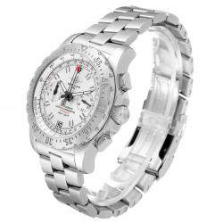 Breitling Silver Stainless Steel Professional Skyracer A27362 Men's Wristwatch 43.5 MM