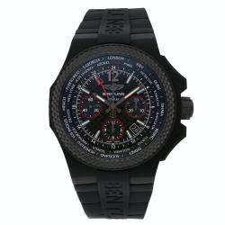 Breitling Black Carbon Bentley GMT B04 Limited Edition NB0434E5/BE94 Men's Wristwatch 45 MM