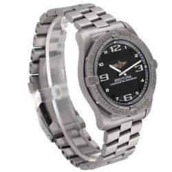 Breitling Black Titanium Aerospace Avantage Perpetual Alarm E79362 Men's Wristwatch 42 MM