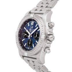 ساعة يد رجالية بريتلينغ كرونومات B01 كرونوغراف AB0115101C1A1 ستانلس ستيل زرقاء 44مم