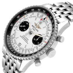 Breitling Silver Stainless Steel Navitimer Exemplaires Limited Edition A23330 Men's Wristwatch 41.5 MM