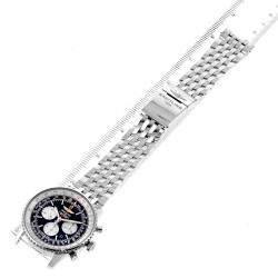 Breitling Black Stainless Steel Navitimer 01 AB0127 Men's Wristwatch 46 MM