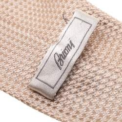 Brioni Beige Textured Silk Jacquard Tie