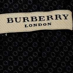 Burberry Black Jacquard Pattern Rohan Silk Tie