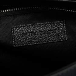 Burberry Black Check PVC and Leather Large Burleigh Messenger Bag