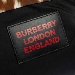 Burberry Tan Nylon Drawstring Backpack