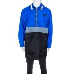 Burberry Blue Nylon Lakebridge Hooded Jacket M