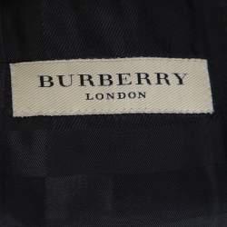 Burberry Black Wool Millbank Tailored Jacket S