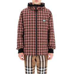 Burberry Check Diamond Quilted Hooded Jacket Size M