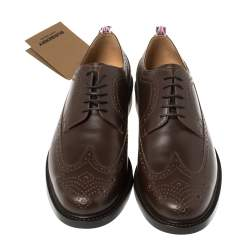 Burberry Brown Brogue Leather Arndale Oxfords Size 44