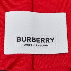 Burberry Bright Red Classic Cut Silk Tie