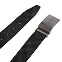 Burberry Black Beat Check PVC Belt 85CM