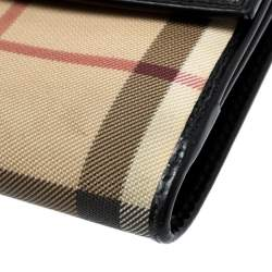 Burberry Beige House Check PVC Bifold Wallet