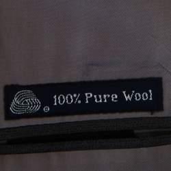 Burberrys Grey Patterned Wool Suit XL