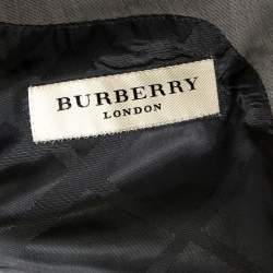 Burberry Grey Cotton Knit Regular Fit Suit XXL