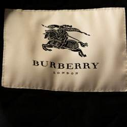 Burberry Black Diamond Quilted Button Front Coat S