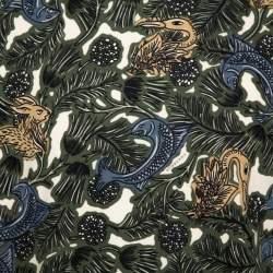 سويت شيرت بربري قطن مطبوع متعدد الألوان مقاس كبير جدًا - إكس لارج