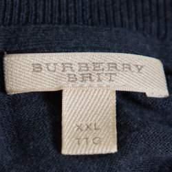 Burberry Brit Navy Blue Cotton Crewneck Sweatshirt XXL