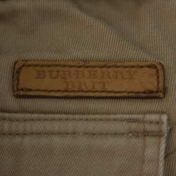 Burberry Brit Beige Cotton Straight Leg Tailored Trousers XL