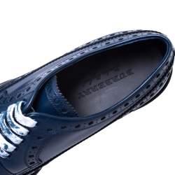 Burberry Blue Brogue Leather Alexton Lace Up Derby Size 45