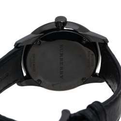 Burberry Black PVD Coated Stainless Steel Classic BU10003 Men's Wristwatch 40 mm