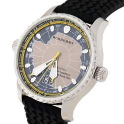 Burberry Grey Stainless Steel Silicon Rubber South Pole Expedition BU7501 Men's Wristwatch 43 mm