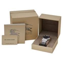 Burberry Blue Stainless Steel Heritage Chronograph BU1360 Men's Wristwatch 40 mm