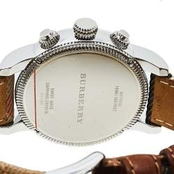 Burberry White Stainless Steel The Utilitarian House Check BU7820 Men's Wristwatch 42 mm