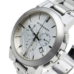 Burberry Silver Stainless Steel Classic Chrono BU9350 Men's Wristwatch 42 mm