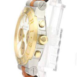 Bvlgari White 18K Yellow Gold And Stainless Steel Diagono CH35SG Men's Wristwatch 35 MM