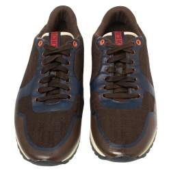 Carolina Herrera Multicolor Leather And Canvas Low Top Sneakers Size 43