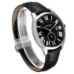 Cartier Black Stainless Steel Drive de Cartier WSNM0009 Men's Wristwatch 40 MM