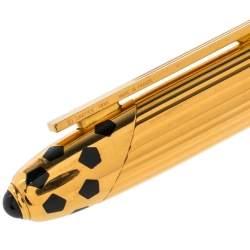 Cartier Panthere de Cartier Enamel Ribbed Gold Plated Fountain Pen
