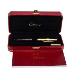 Cartier Millesime Crocodile Leather Gold Plated Limited Edition Ballpoint Pen