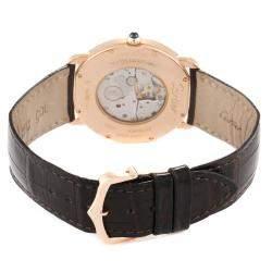Cartier Silver 18K Rose Gold Ronde Louis W6800251 Men's Wristwatch 36 MM