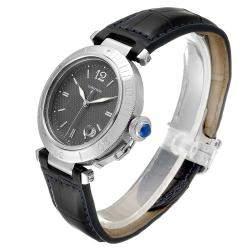 Cartier Gray Stainless Steel Pasha W31017H3 Men's Wristwatch 38 MM