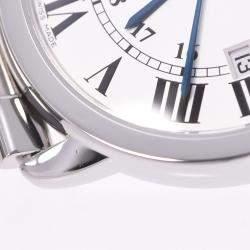Cartier Silver Stainless Steel Ronde Solo W6701005 Men's Wristwatch 36 MM
