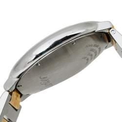 Cartier Silver 18K Yellow Gold And Stainless Steel Ballon Bleu 3001 Men's Wristwatch 42 mm