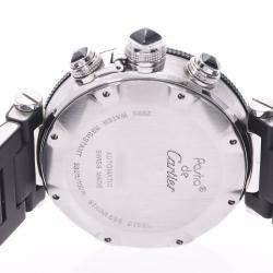 Cartier Black Stainless Steel Pasha Seatimer Chrono W31088U2 Automatic Men's Wristwatch 41 MM