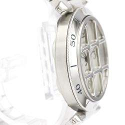 Cartier Silver Stainless Steel Pasha Grid W31040H3 Men's Wristwatch 38MM