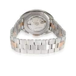 Cartier Silver 18K Rose Gold And Stainless Steel Cle de Cartier W2CL0002 Men's Wristwatch 40 MM