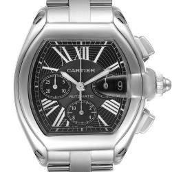 Cartier Black Stainless Steel Roadster XL Chronograph W62020X6 Men's Wristwatch 49 x 43 MM
