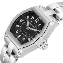 Cartier Black Stainless Steel Roadster W62004V3 Men's Wristwatch 38 x 43 MM